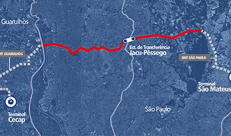 Mapa Perimetral Leste